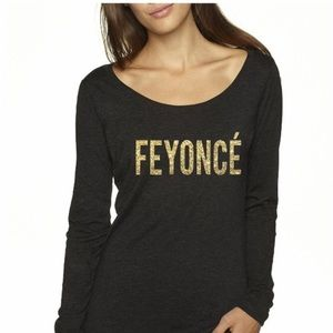 "NEXT LEVEL | Women's ""FEYONCÉ"" Long Sleeve Tee S"